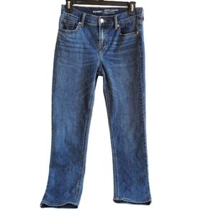 Old Navy Mid-Rise Straigth Skinny Blue Jean's Sz 0